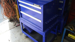 Brand new 3 drawer with bottom storage on rolling casters