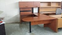 EXECUTIVE DESK U-SHAPED CHERRY COLOUR ONLY 595.00 WHY BUY NEW?? Mississauga / Peel Region Toronto (GTA) Preview