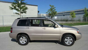 2004 Toyota Highlander,4WD, 7 Pass, Only 145000 km, No Accident