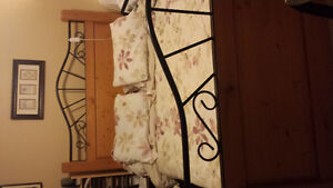 Queen size bed with mattress and box spring
