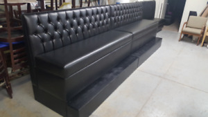 BAR HEIGHT TUFTED RESTAURANT BOOTH