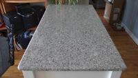 comptoir en granit gris 54 x 110 cm