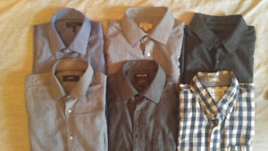 6 Men's Dress Shirts L/XL