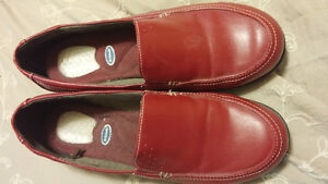 Red Dr.  Scholls loafers
