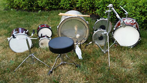 Drums various Sizes, Chair, FootPedal & Misc