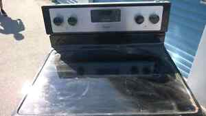 Stainless Steel Flat top Stove & Matching Overhead Microwave