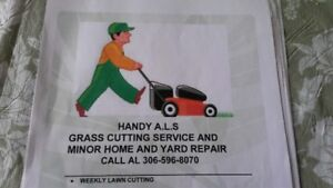 Handy Als grass cutting and snow clearing
