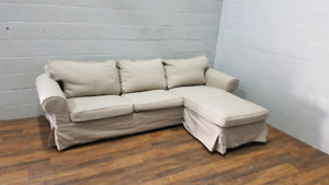 Free delivery: Ikea Ektorp Sofa with Chaise