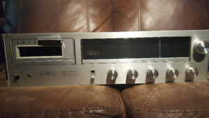 vintage sears 8 track sterio receiver re1000 & with 61  8 tracks