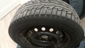 Mazda 3 205/60R16 winter tires on rims & all weather floor mats