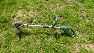 Electric weed wacker and leaf blower