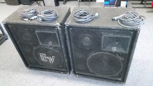 Electro-Voice 3 way PA Speakers