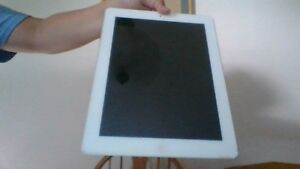 ipad 2 64gb works awesome with charger and box and a blue case