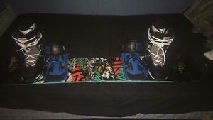 K2 Snowboard and biding's 147 with boots OBO Prince George British Columbia image 1