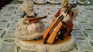 FIGURINE - PORCELAIN CHINA - MUSICAL DUET - Sale