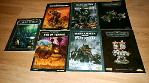 Warhammer 40k old codexs & rulebooks for sale/swap