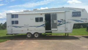 For sale 2002 Keystone Cougar 5th wheel camper