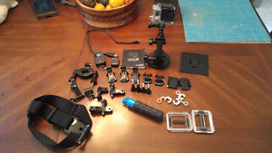 GoPro Hero 3 Black Edition With Attachements