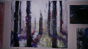 Abstract Forest Painting