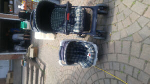 Infant stroller and car seat