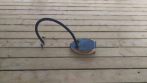 Foot pump for rafts or beds or such