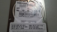 toshiba 160g laptop hard drive