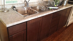 brand new cubbords sink and countertop