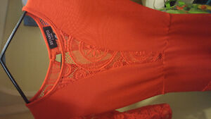 Lace red dress, 3 quarter sleeves London Ontario image 2