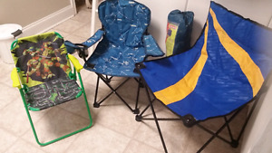 Camp chairs, all sizes