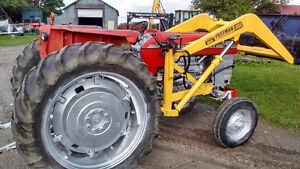 Massey 165 tractor with loader