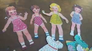 Vintage Doll Cut-Outs, 4 Dolls