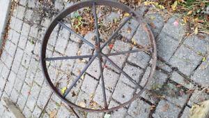 Antique/Vintage Wheelbarrow Wheel In Excellent Condition!