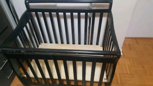 Kids bedroon twin bed drawer chester baby crib $100