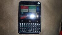 Motorola Cell Phone with touch screen and keyboard $80 .  Telus.