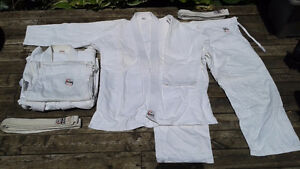 2x FUJI Sports White Single Weave Judo Gi (Used) London Ontario image 2