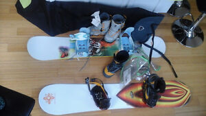 RIDE SNOWBOARD, BOOTS 5150 size 8.5, RIDE bindings, West Island Greater Montréal image 4