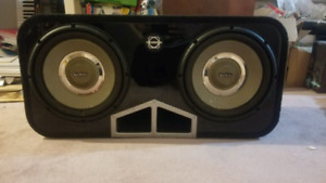 Two 12 inch Infinity Kappa Car Subwoofer in Bassworx Box