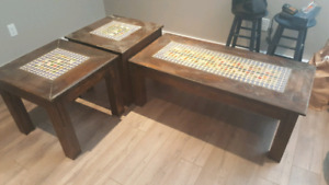 Beer Cap coffee and end tables