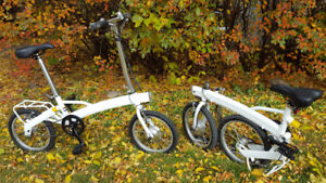 X2 TWO EBIKES FOLDING ELECTRIC BICYCLES CAMPING TRAVEL RV