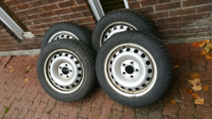 BMW 3 SERIES Winter Tires and Steel Rims 205 55 16