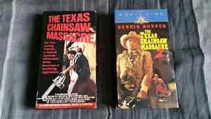 Texas Chainsaw Massacre 1 and 2 on VHS