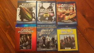 THE FAST AND THE FURIOUS 6 MOVIE BLU RAY SET