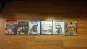 5 PS3 Games 1 PS4 Game OBO