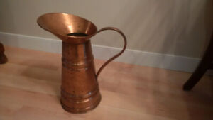 Copper milking pitcher