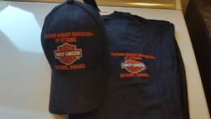2 Brand New Harley Hats & T Shirts, LG, never worn or used