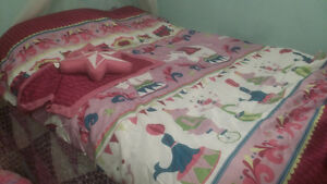 Girls comforters and cushion