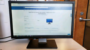 Dell 24 inch LED monitor widescreen