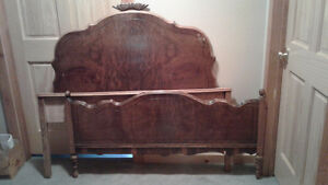 Antique double bed with mattress