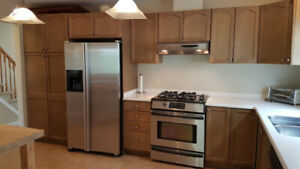 Furnished 3B/1.5B Clean Home Backing on Park & Centrally Located