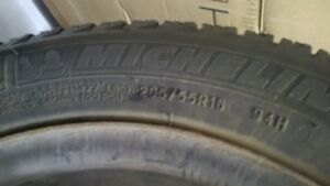 Michelin X-ICE Snow tires with rims 205/55R16 set of 4